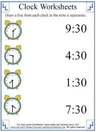 clock worksheets learning half hours
