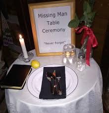 Fallen Comrade Table by Pow Mia Missing Man Table Ann M Wolf