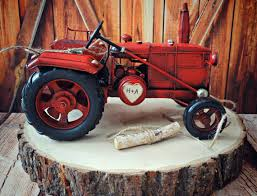 tractor wedding cake topper tractor deer western rustic barn wedding cake topper farm