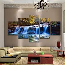 waterfall home decor 5pieces set forest waterfall wall art for wall decor home