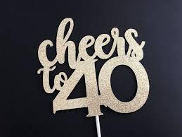 40th birthday decorations 40th birthday decorations 40th birthday cake topper 40th cupcake