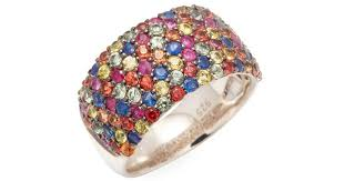 color sapphire rings images Lyst effy sterling silver multi color sapphire ring in metallic jpeg