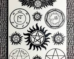 supernatural tattoo etsy