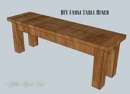 Diy Pottery Barn Inspired Dining Table Bench Little Green Bow
