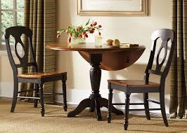 low country round drop leaf pedestal table dining room set by