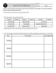 activity worksheets units muohio edu