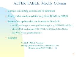 alter table not null chapter 4 intermediate sql integrity constraints ppt download