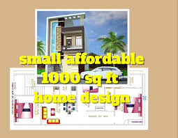 affordable 1000 sq ft home design floor plan elevation design house