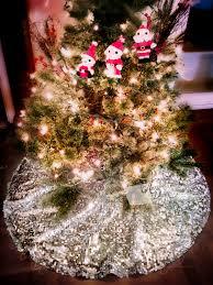christmas tree skirt silver sequin 48 sparkle xmas tree