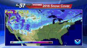 Snow Coverage Map Comparing Local And National Snow Depth Over The Past Two Years