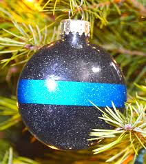 thin blue line ornament on etsy 5 00