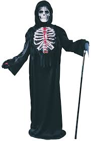 Scream Halloween Costume Kids Bleeding Skeleton Chest Child Costume