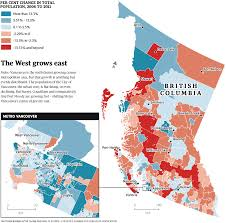 Canada Population Map by Vancouver Population Change Visual Ly