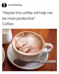 Memes About Coffee - maybe this coffee will help me be more productive conceited