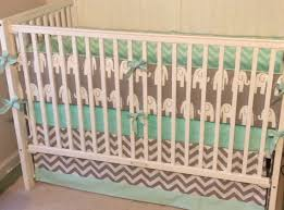 Mint Green Crib Bedding Crib Bedding Set Gray Mint Green Elephant