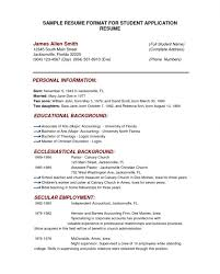Resume For College Application Sample Resume Format For College Application Examples Of College Resumes