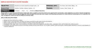 Data Entry Resume Master Data Entry Cover Letter U0026 Resume