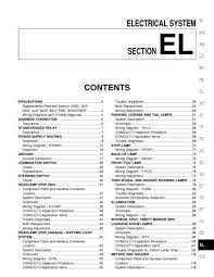2002 nissan pathfinder electrical system section el pdf