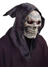 hooded flexi face skull mask masks
