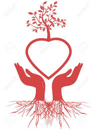 tree symbol the symbol of hand holding red heart tree cliparts vector và