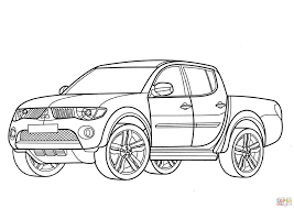 mitsubishi l200 coloring page free printable coloring pages