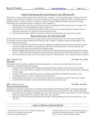 Resume For Manufacturing Resume Sample For Engineering Manager