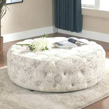 linen ottoman coffee table s french country round linen tufted