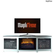 Most Realistic Electric Fireplace Minotaur Black U0026 Silver Metal Media Center Electric Fireplace Wall