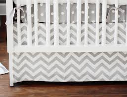bedroom grey chevron baby bedding painted wood wall mirrors lamp