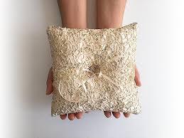 wedding gift gold express shipping wedding ring bearer pillow fishnet sequin ring