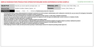 Engineering Technician Resume Sample by Isotope Production Technician Resumes Samples