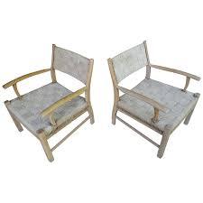 1950s scandinavian danish modern oak low lounge chairs for