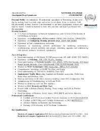 Voice Engineer Resume Akash Gupta Network Engineer Cv