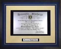 honorable discharge certificate engraved and framed air honorable discharge certificate navy