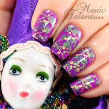 mardi gras nail manic talons nail design mardi gras nail gelaze flying