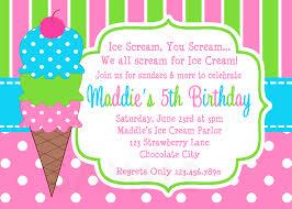 ice cream party invitations cloveranddot com