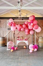 balloon garland balloon garland pink shimmer burnt butter cakes