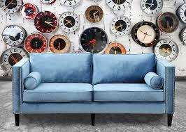 perfect blue velvet sofa u2014 home design stylinghome design styling