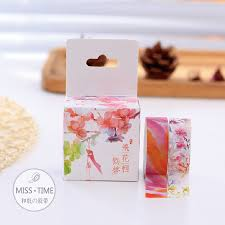 aliexpress com buy 2pcs gouache flowers japanese washi tape 15mm