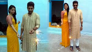 allu arjun dussehra celebration at mother in laws village at