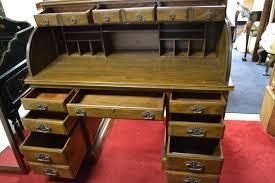 Oak Roll Top Secretary Desk by Ethan Allen Roll Top Desk Solid Oak 55