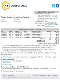 it support report template phone conference usage report at conference