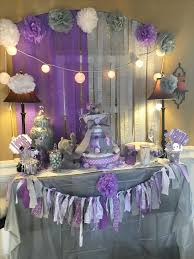 baby girl shower themes purple and silver baby shower decorations 10466