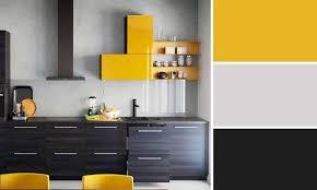 cuisine jaune et blanche charmant cuisine jaune et gris inspirations avec cuisine jaune et