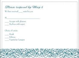 wedding rsvp wording exles exles of rsvp cards for wedding reception 5 types of wedding