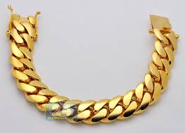 links jewelry bracelet images 10k yellow gold miami cuban link mens bracelet 18 mm 9 inches jpg