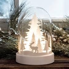 light up glass dome with christmas scene christmas decoration
