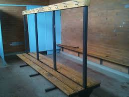 Changing Room Benching Vintage Bench Seat With Hooks Old Gym Change Room Becnh Seats