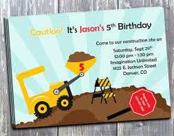 free construction birthday invitations ideas best invitations