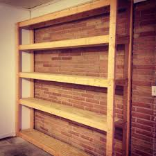 Simple Wooden Shelf Plans by Plans For Garage Shelves With Simple Diy Wood Garage Shelving